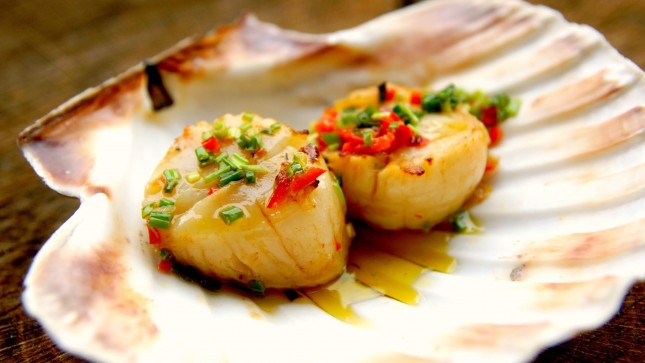 Grilled Glazed Scallops